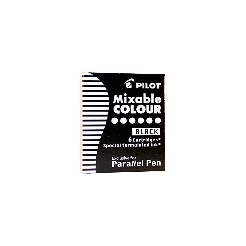 Caixa Recanvi Tinta Pilot 6 Negre Casa Piera Barcelona