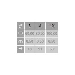 Tabla medidas Pincel Paletina Polonesa Petit Gris 6633 Daurar Escoda