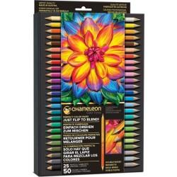 Capsa 25 llapis dobles 50 colors Chameleon