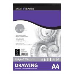 Bloc dibujo Daler & Rowney 120 gr A4