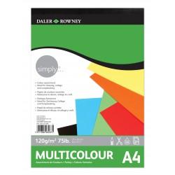 Bloc Multicolor Daler & Rowney 120 gr A4