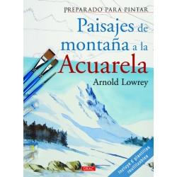 Preparado Para Pintar - Paisajes Montaña Acuarela