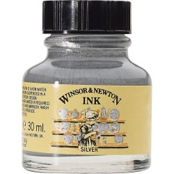 Tinta China W&N - Plata 30 mL