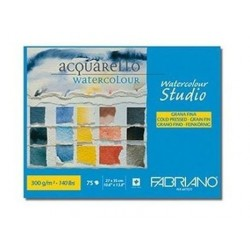 Bloc Maxi Watercolor 300G 75F Fabriano