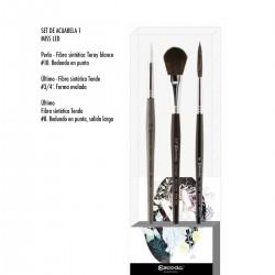 Set Pinzells Escoda Miss Led Aquarel·la Signature Collection - Casa Piera