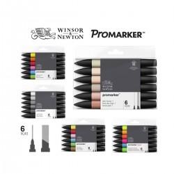 Set 6 Promarker Winsor&Newton Doble Punta - Casa Piera
