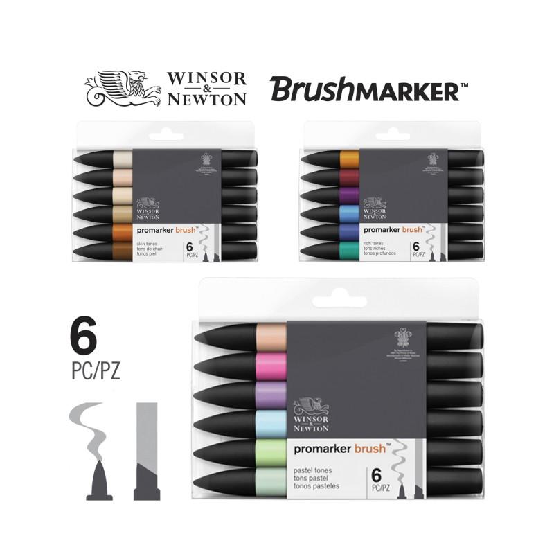 Set 6 Brush Promarker doble punta - Casa Piera