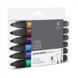 Set 6 Tonos Profundos Brush Promarker doble punta - Casa Piera