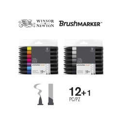 Set 12+1 Brush Promarker Winsor&Newton - Casa Piera