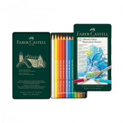 Set Llapis Aquarel·lable Albrecht-Dürer Faber-Castell 12 metàl·lica - Casa Piera