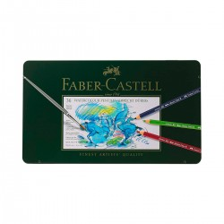 Set Llapis Aquarel·lable Albrecht-Dürer Faber-Castell 36 metàl·lica - Casa Piera