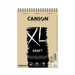 Bloc XL A5 Kraft Canson Amb Espiral Casa Piera Barcelona