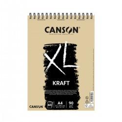 Bloc XL A4 Kraft Canson Con Espiral Casa Piera Barcelona