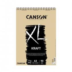 Bloc XL A3 Kraft Canson Con Espiral Casa Piera Barcelona