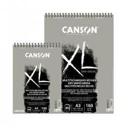 Bloc XL Multitècniques Seques (Color Gris) Canson Amb Espiral Casa Piera Barcelona