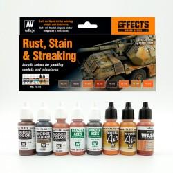 Set Rust, Stain & Streaking Modelisme Vallejo - Casa Piera