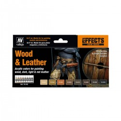Set Wood & Leather Model...