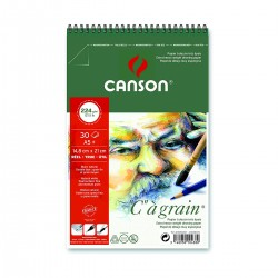 Bloc C à Grain 224G 14,8 x 21 Canson Dibujo Con Espiral Casa Piera Barcelona