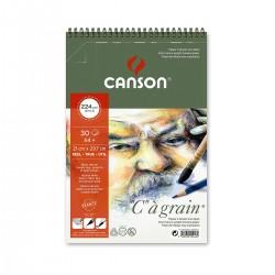 Bloc C à Grain 125G 21 x 29,7 Canson Dibujo Con Espiral Casa Piera Barcelona