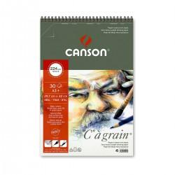 Bloc C à Grain 224G 29,7 x 42 Canson Dibujo Con Espiral Casa Piera Barcelona