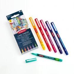 Set 6 Line Maker Colores...
