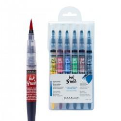 Set 6 Ink Brush Sennelier