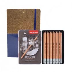 Pack Piera Dibujo: Set 12 Graphite Pencils + Bloc Dibujo Casa Piera Barcelona